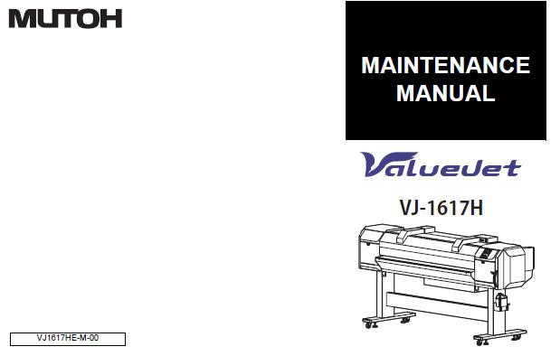 Mutoh VJ-1617H Service Manual :: Mutoh Printers & Plotters