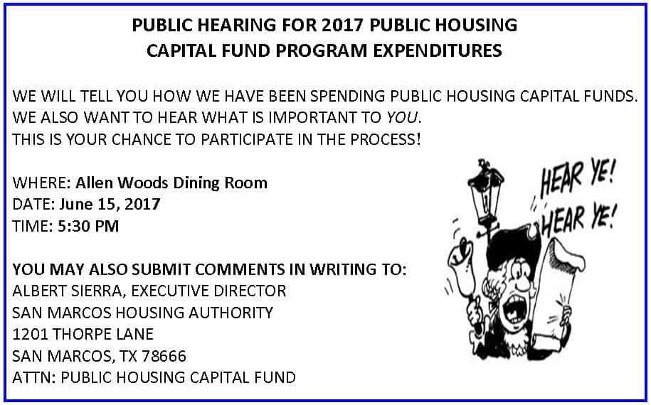 public notice san marcos housing authority