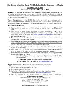 thumbnail of 2018 NEF Scholarship Application