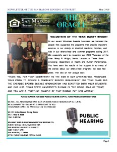 thumbnail of SMHA Oracle – May 2018