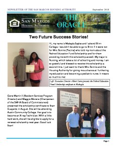 thumbnail of SMHA Oracle – September 2018