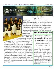 thumbnail of SMHA Oracle – December 2018