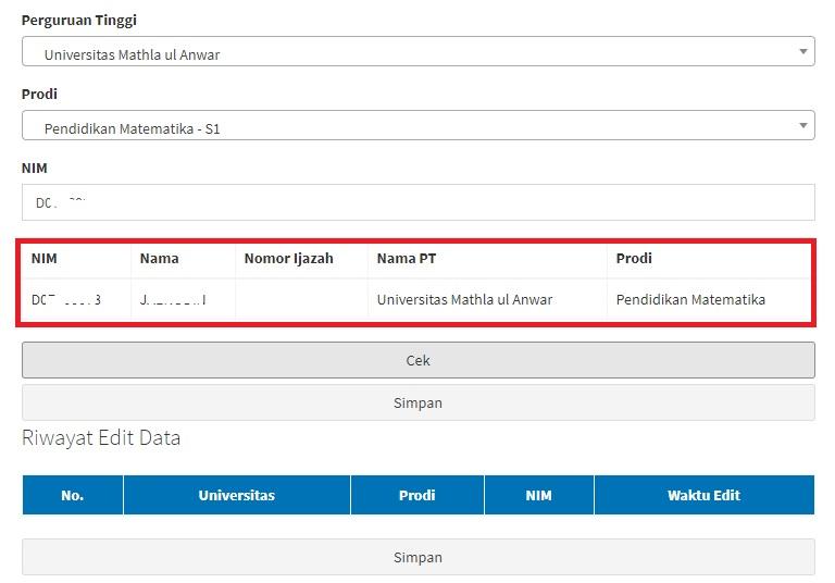Cara Memperbaiki Edit Data Verval Ijazah