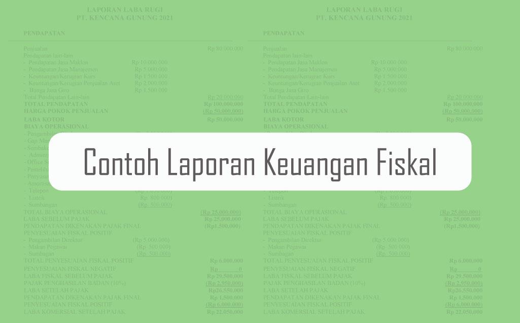 contoh laporan keuangan fiskal