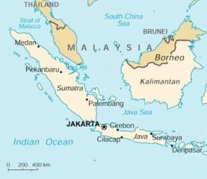 Batavia, das heutige Java, Hauptstadt Jakarta