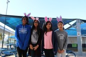 Ella, Maya, Layla, and Sanjana participants in the Spring Egg Week.