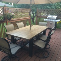 Rustic Farmhouse Style Patio Table | SMS Designs LLC
