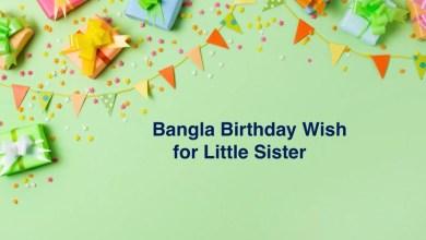 Bangla Birthday Wish for Little Sister