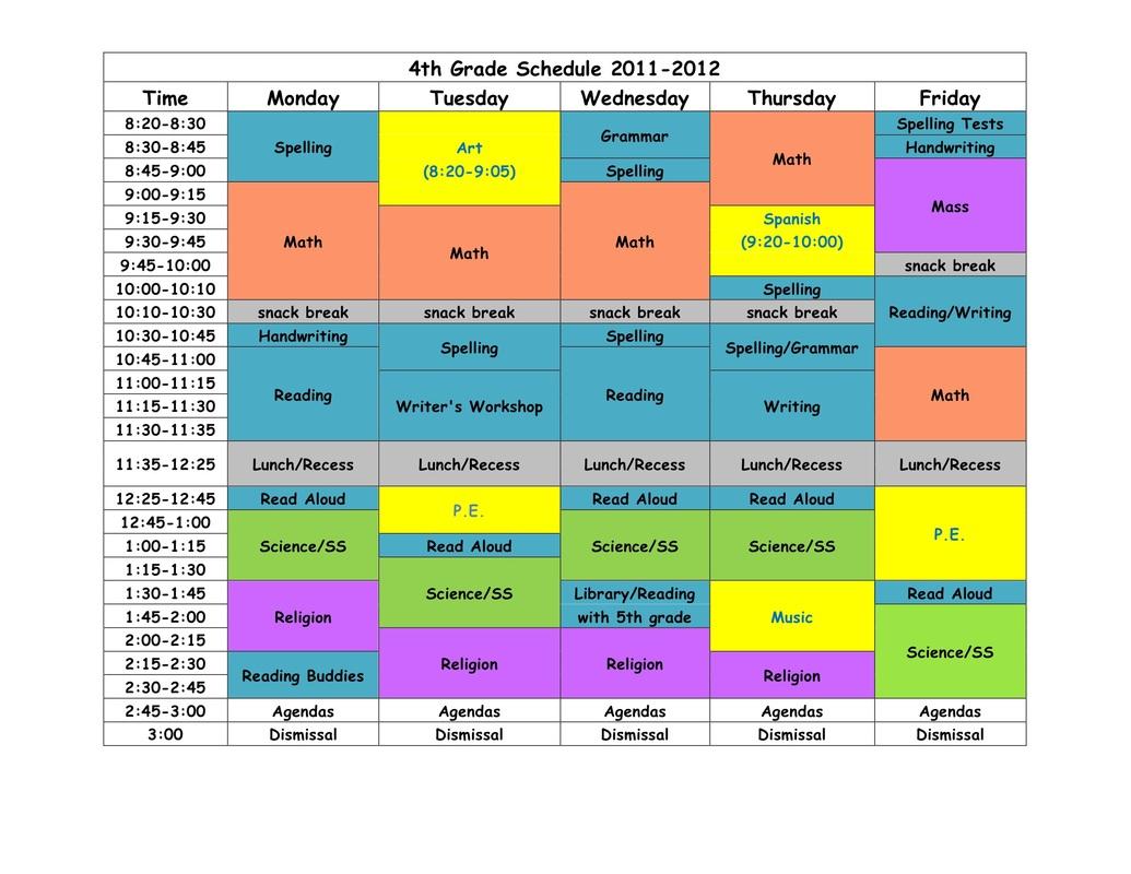 Specials Amp Schedule