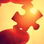 A jigsaw puzzle piece.