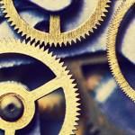 Mechanical watch mechanism.