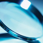 Close-up of a magnifying glass
