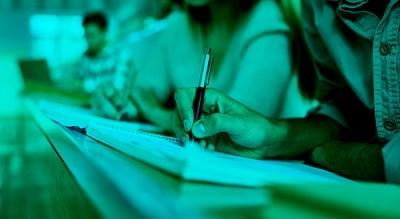students sitting fasea exam