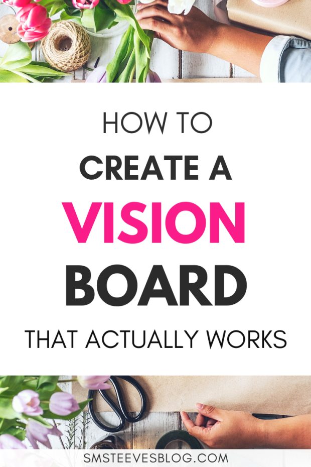 What better way to ring in the new year than setting your goals and intentions in a fun and creative way? Making a vision board is the perfect way to manifest your goals and intentions for the new year and this blog post is all about how you can make your very own vision board! #NewYears #goals #2019 #visionboard