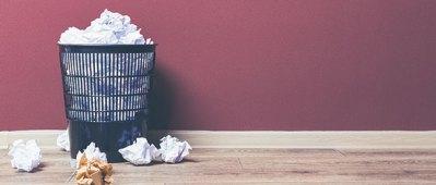 Waste paper bin.