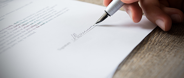 formal documents rent relief