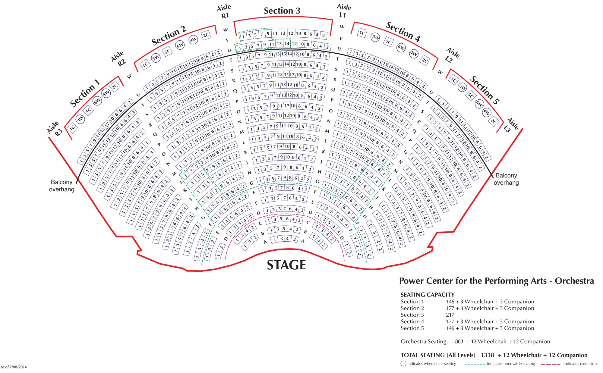 hight resolution of download seating chart for power center orchestra pdf download seating chart for power center balcony pdf