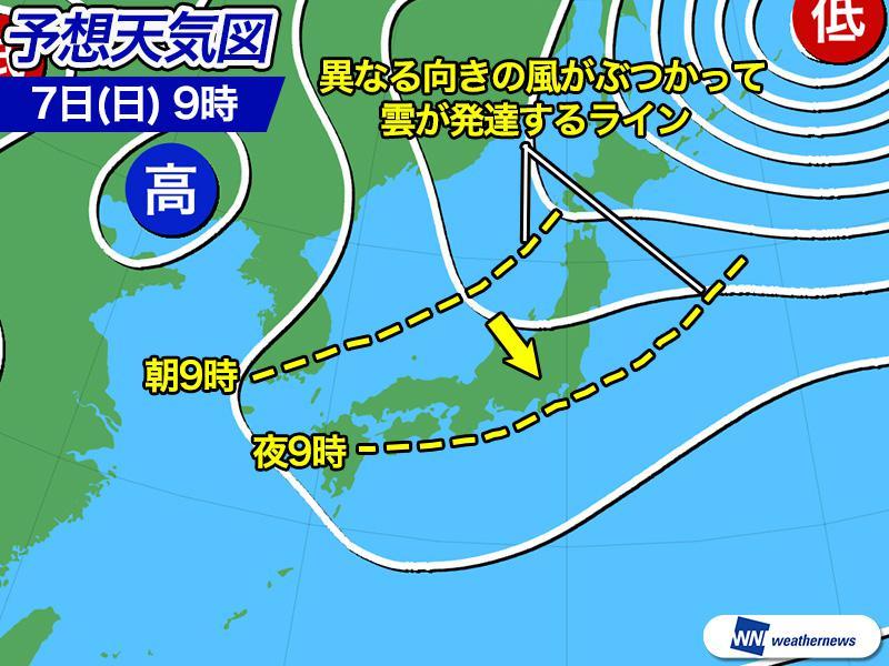 4月7日(日)の天気 お花見は傘をお供に 日本海側から雨エリア拡大 - ウェザーニュース