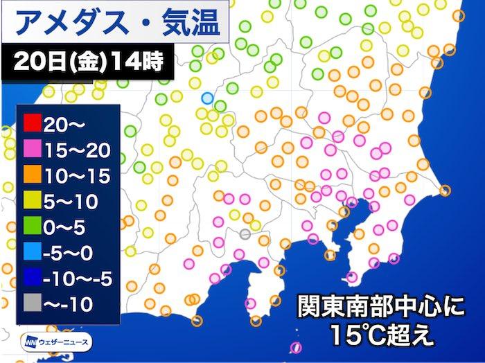 東京は気溫変化大 11月中旬並みの暖かさから明日は師走らしい寒さに - ウェザーニュース