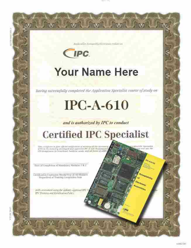 IPCA610E CIS Challenge Test Certification