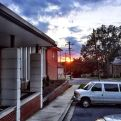 Sunset from the Prince George's Salvation Army in Hyattsville, MD after the last night of kids club and vbs. tears of sadness at parting, but tears of joy in the message and love and relationships shared. Our @sm2students were outstanding and Christ-like down to the last person