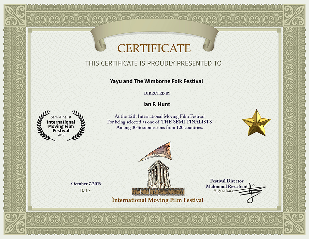 Yayu and The Wimborne Folk Festival – Semi-Finalist