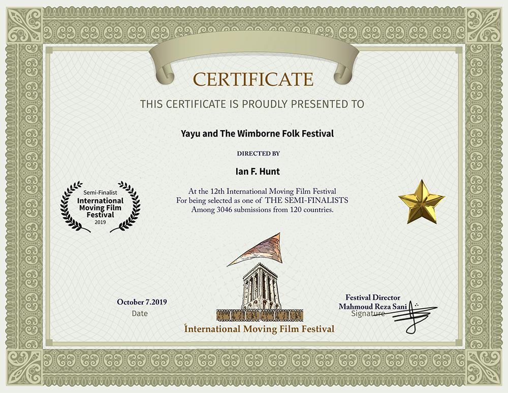 Yayu and The Wimborne Folk Festival – Semi-Finalist