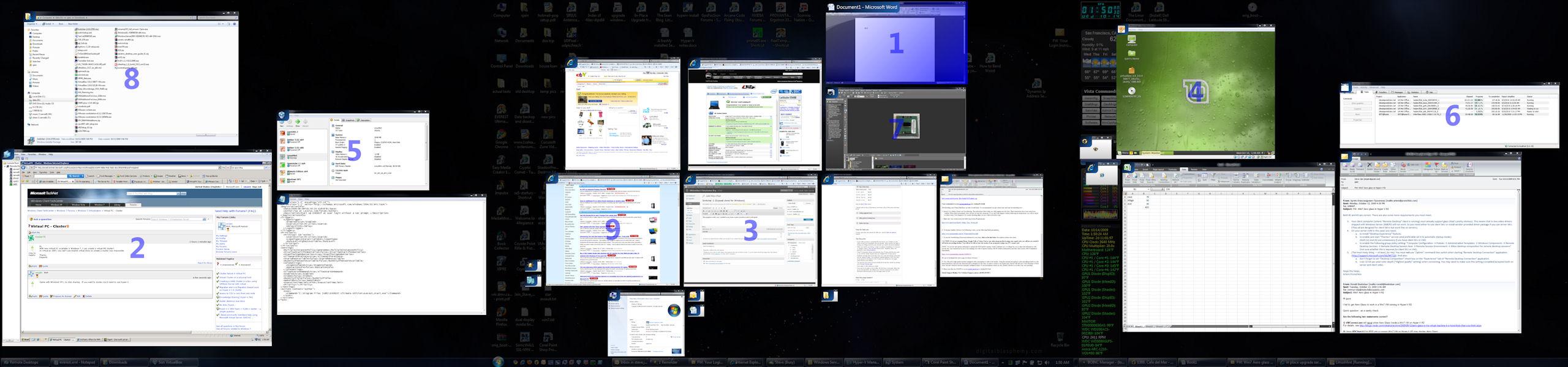 Switcher over 3 monitors