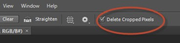 how to delete in photoshop