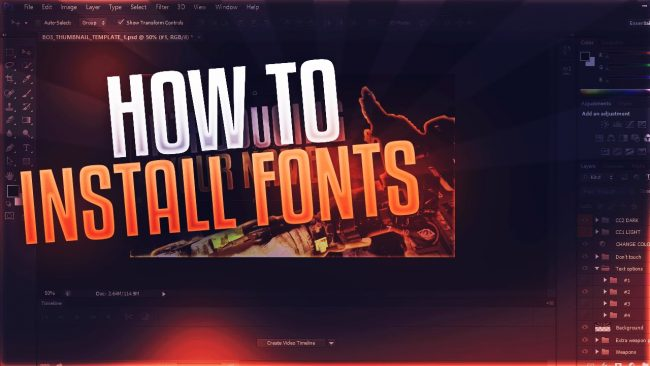 How to Install Fonts In Photoshop