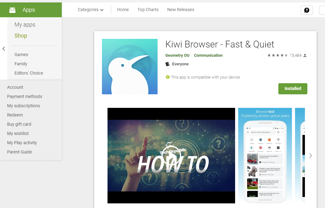 Smuuvr Works on Android Mobile or Tablet with Kiwi Browser!