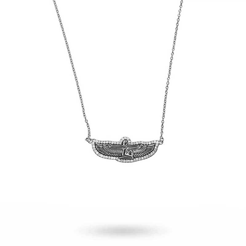 Goddess halsband, silver