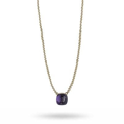 Hatt pendant halsband, purple