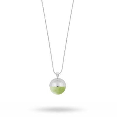 Lane långt halsband, grönt