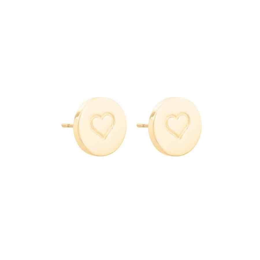 Love heart örhängen, guld
