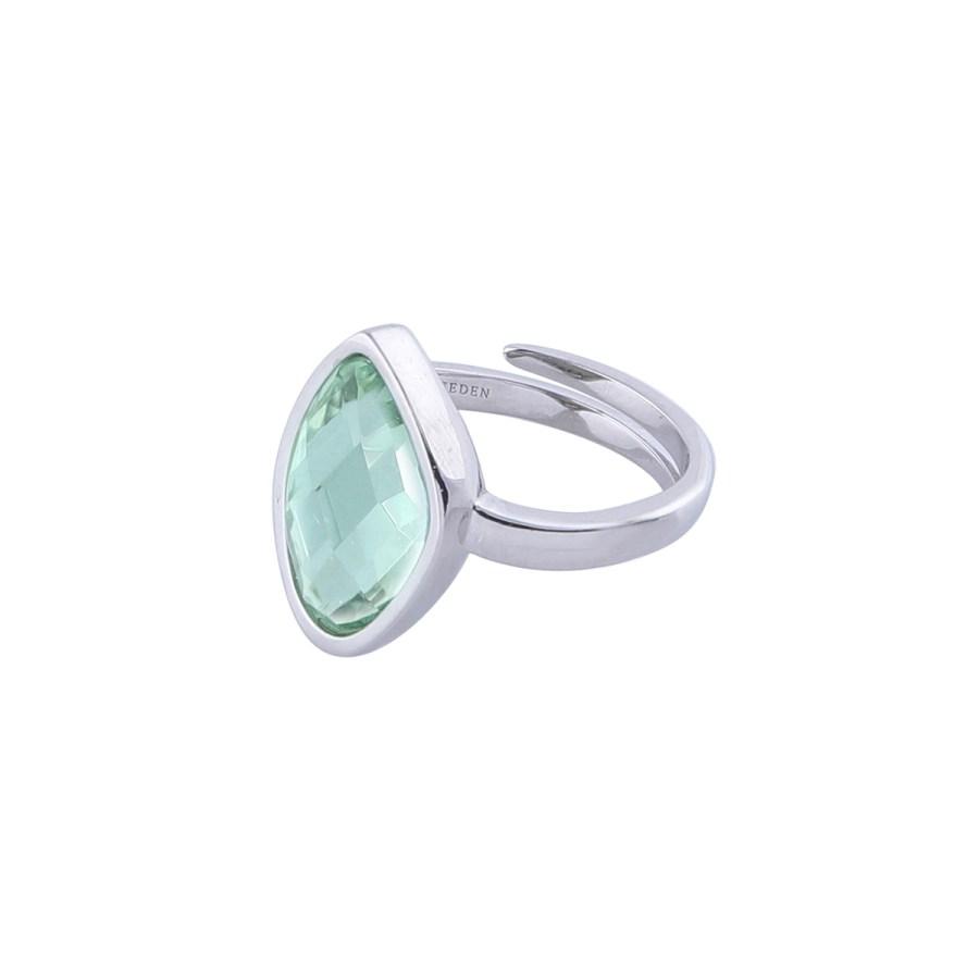 Ring-silver-green