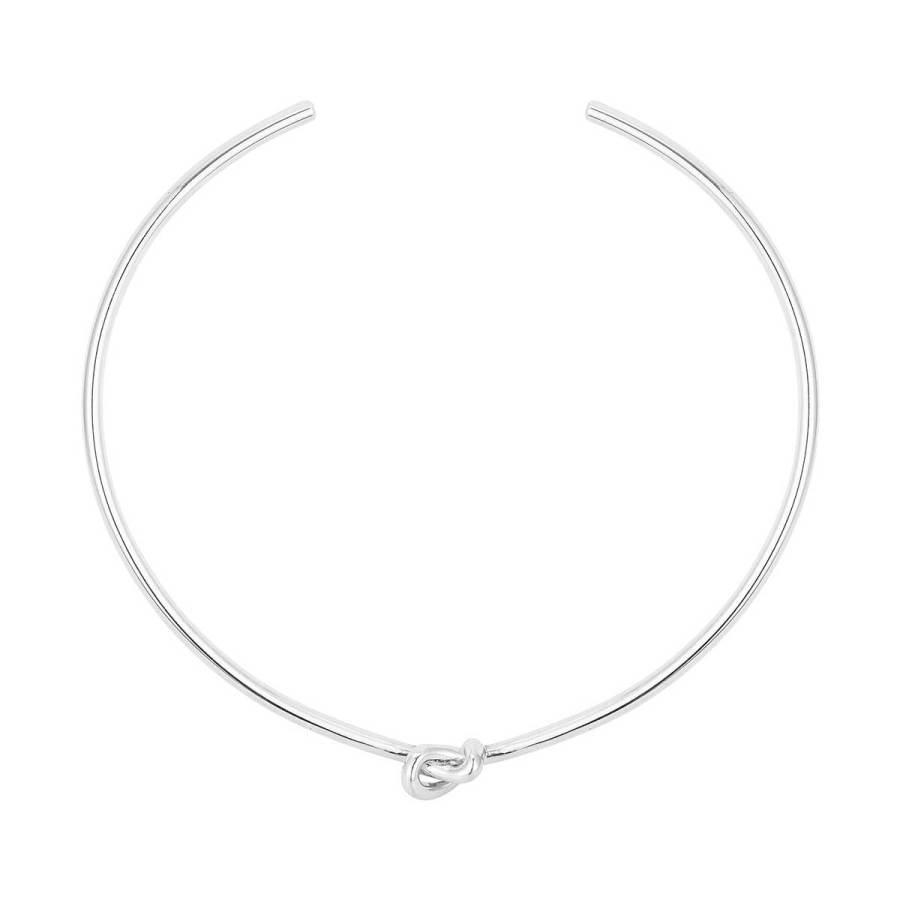 Knot Choker halsband, silver