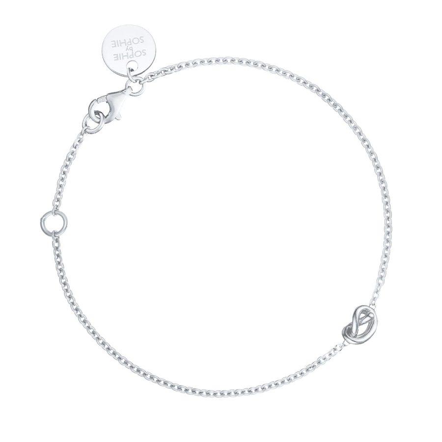 Knot armband, silver