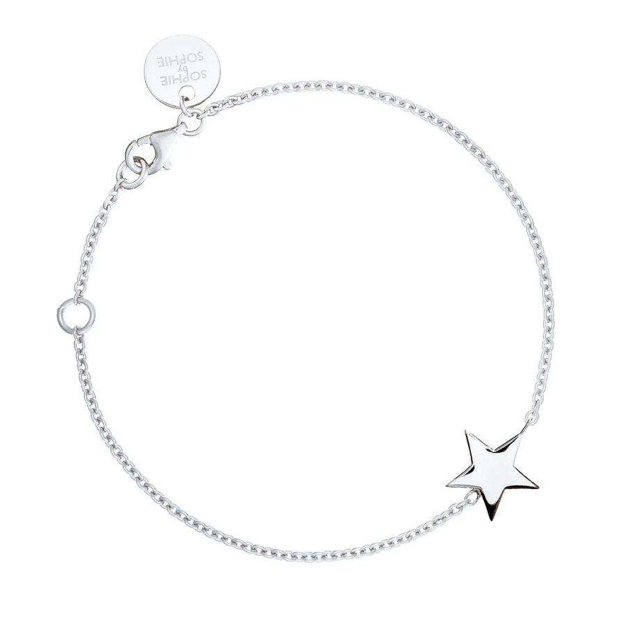Star bracelet, silver