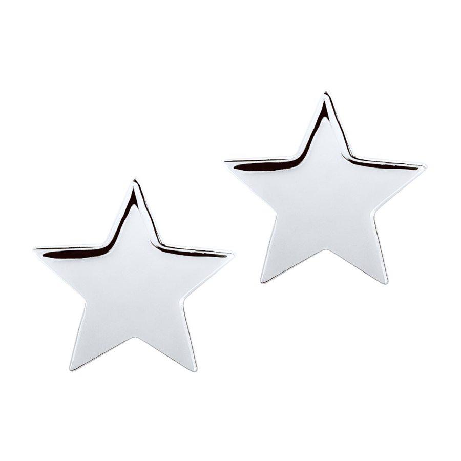 Star mini studs, silver