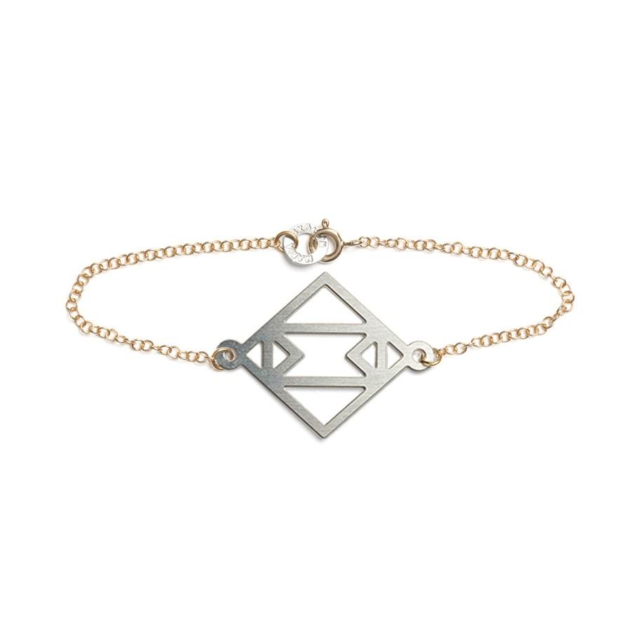 Single Symmetric Armband, stål