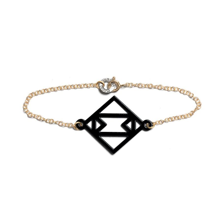 Single Symmetric Armband, svart