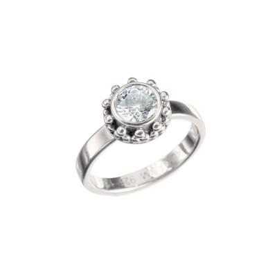 Tipsy Heart Zircon Ring, guld