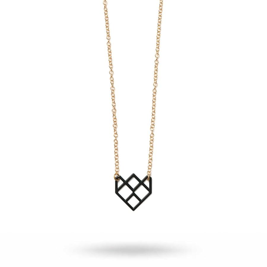 Small Symmetric Halsband, svart