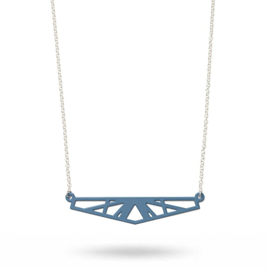 Small Reflection halsband, blå