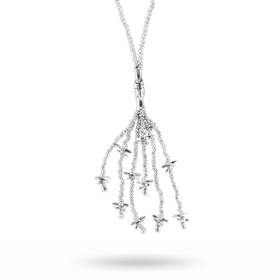 Lovely långt Halsband, silver