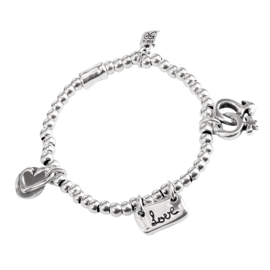 Amor Elástico Armband, silver