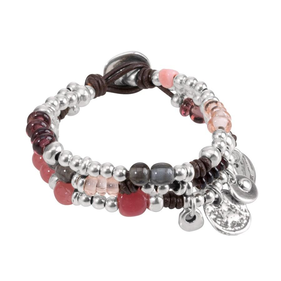 Prima-Vera Armband, silver/rosa