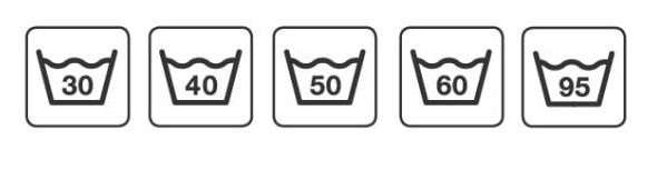 Символы температуры стирки