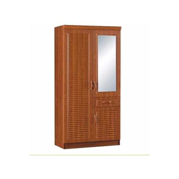armoire en bois 2 battants marron